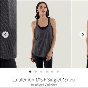 Lululemon | Singlet Dark Gray Tee